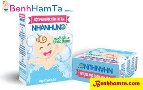 Bột tắm trẻ em nhân hưng trị hăm tã cho trẻ vô cùng hiệu quả và an toàn